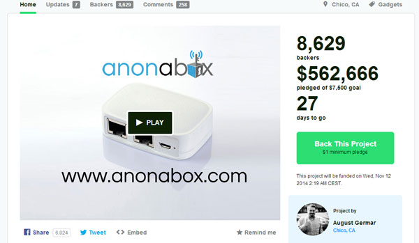 Anonabox Screenshot